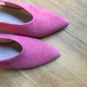 Louise et Cie Shoes - Louise et Cie Pink Suede Pumps 7.5